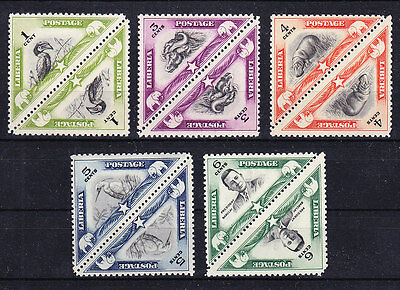 Liberia 1937 - Sc# 271 - 276  Almost Complete Mnh Pairs - Triangel Wild Animals