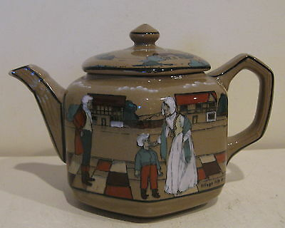 Buffalo Pottery Deldare Ware Teapot Village Life in Ye Olden Days