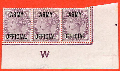 """SG. 043 -- L38. 1d Lilac. """" ARMY OFFICIAL """". A superb UNMOUNTED MINT control"""