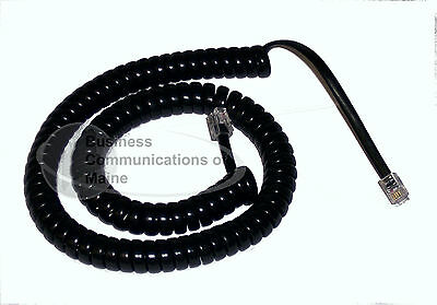 25 New Phone Coil Cords, 12 foot, Black