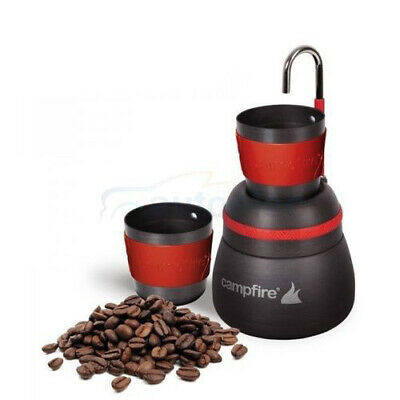 Espresso Camping Outdoor Hiking Compact Coffee Maker 2 Cup Brew Aluminium 350Ml