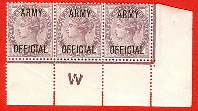 """SG. 043 -- L38. 1d Lilac. """" ARMY OFFICIAL """". A superb UNMOUNTED MINT control."""