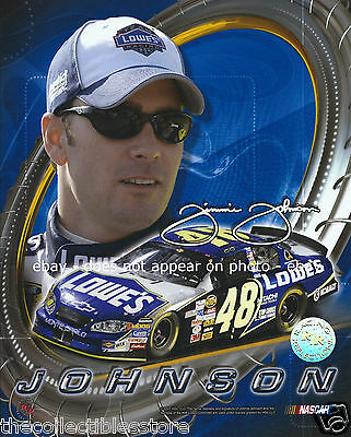 JIMMIE JOHNSON SIGNED AUTO LOWES HENDRICK NASCAR NEXTEL CUP SERIES 8 X 10 PHOTO