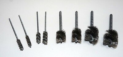 8 piece Power Drill BBQ Grill Stainless Steel Cleaning Brush Set 1/4,3/8, 3/4, 1