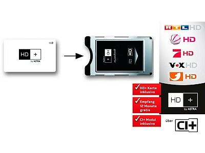 German TV in UK HD+ Cam and 6 Month Card for Premium Content German Digital TV