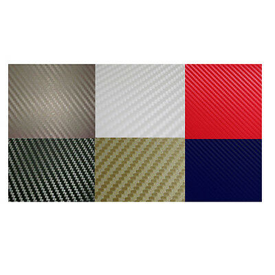 Large 3D Bubble Free Carbon Fibre Vinyl Sheet Car Wrap Various Colours Available