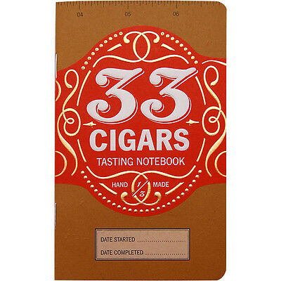33 Cigars Notebook - Connoisseur Reference Journal Book - Track Favorite Smokes!