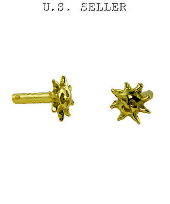 Brass Solid Rivet Sun Design Pkg Of 10 For All Your Crafting Needs