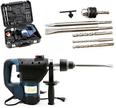 SDS Electric Rotary Hammer Drill Plus Demolition Bits Variable Speed Case