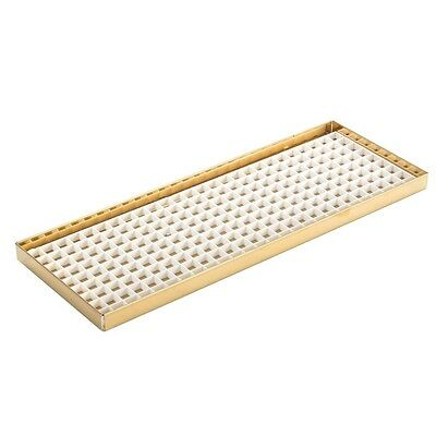 "35 7/8"" Countertop Drip Tray - Brass - No Drain - Draft Beer Spill Catcher - Bar"