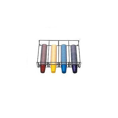 Horizontal Overhead Wire Rack Cup Dispenser - 4 Section