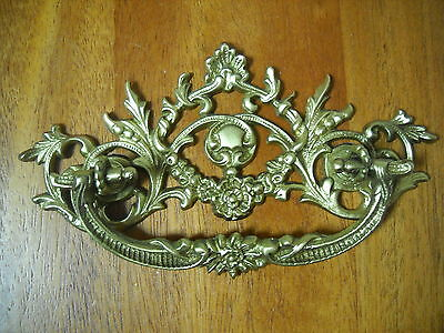 "Antique Victorian Cast Brass Ornate Drawer Pull 3"" Center"