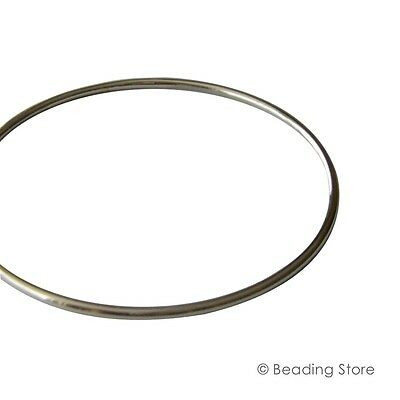 Sterling Silver 925 2mm 65mm ID 69mm OD Golf Bangle Bracelet Round Tube Tubing