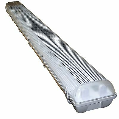 4 x 5ft Twin Waterproof Fluorescent Light Fitting Non-Corrosive T8 58W 1560mm IP