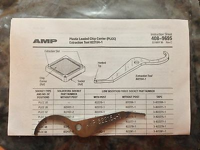 Two Tyco Amp Plastic Leaded Chip Carrier Plcc 8221541 Extraction Tool 822154-1