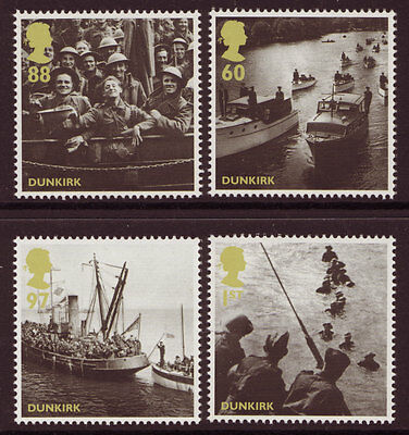 Great Britain 2010 Dunkirk Addition Set Of 4 Unmounted Mint, Mnh