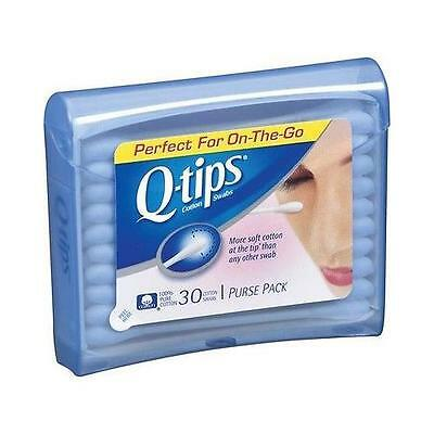 Q-Tips Cotton Swabs,Travel Size Perfect for the purse and for on the Go- 30 EA