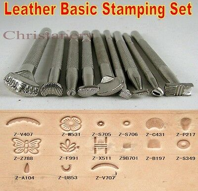 LOT of 9pcs Leather Craft Stamps Working Saddle Making Tools Craftool NEW