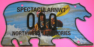 NORTHWEST TERRITORIES Limited Issue Graphic KAYAKER Souvenir License Plate