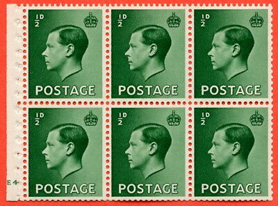 "SG. 457. PB1. ½d green. A fine UNMOUNTED MINT cylinder "" E4 no dot ""."
