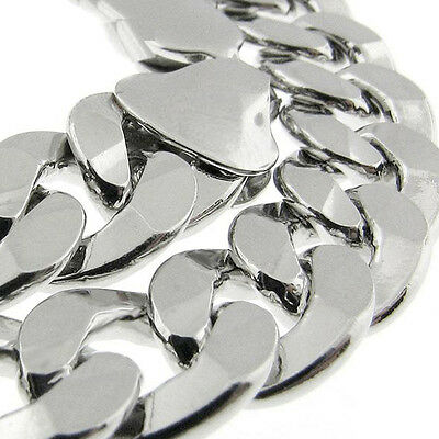 """MADE IN ITALY Curb Link 150 6MM 22"""""""" SOLID FINE 925 STERLING SILVER CHAIN HEAVY!"""