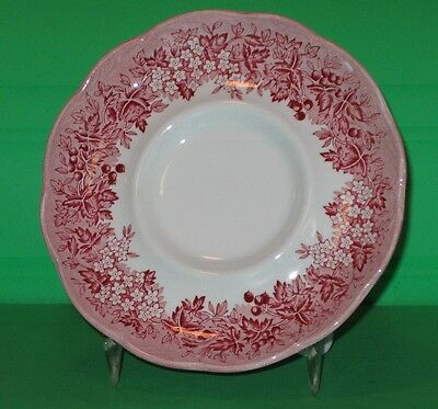 Vintage Ironstone Saucer Romantic England Red Anne Hathaway's Cottage