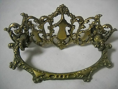 """Antique Victorian Cast Brass Drawer Pull 3"""" Centers • CAD $18.91"""