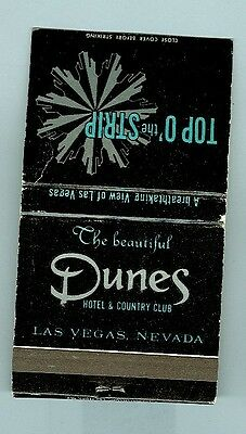 Dunes Casino Full Match Book Las Vegas (New-Unc)