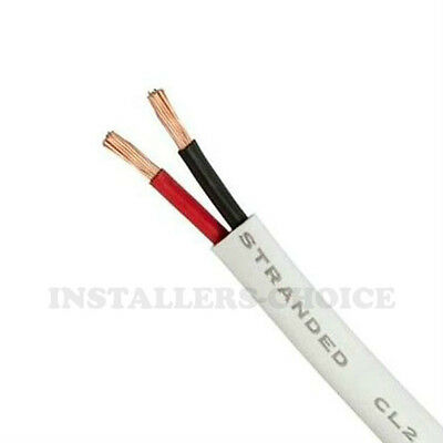 50 FT SPEAKER CABLE 16AWG 16/2 CL2 IN WALL 16 GAUGE AUDIO WIRE 2 CONDUCTORS BULK