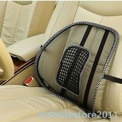 Lumbar Support Massage Mesh Back Cushion With Massage Beads For Car Seat Chair