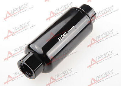 "3/8"" NPT Female Black Anodised Billet Magnetic High Flow Fuel Filter 100 Micron"