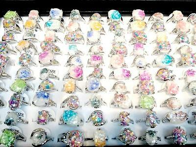Lot 50pcs fashion Top-quality colored Abalone shell ring