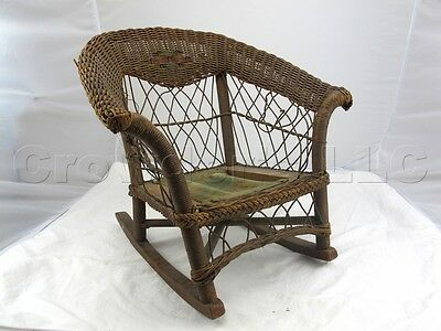 Child's Rocking Chair Antique Original Unrestored 22 H x 22 W x 20 D Rustic Home