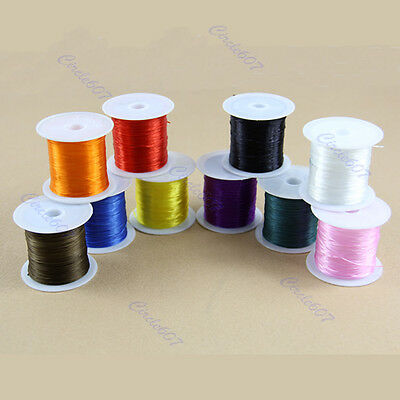 Elastic Jewelry Hot Stretchy 20M Clear Bead Crystal String Socks Knit Wire