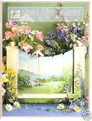 "Ros Stallcup ""Gran's Flower Garden"" Paint Book -New!"