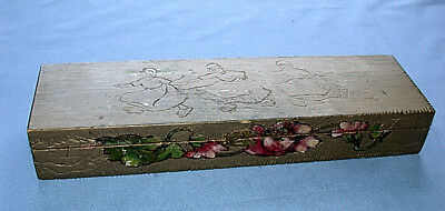 Lovely Antique Hand Made Dutch Carvings Wooden Tie Box