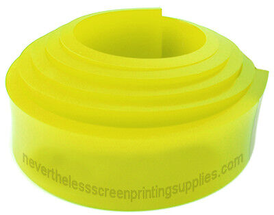 "6FT - 72"" Silk Screen Printing Squeegee Blade - 70 DURO - Polyurethane Rubber"
