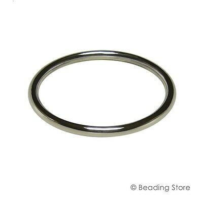 Sterling Silver 925 5mm 57mm ID Golf Bangle Bracelet 67mm OD Round Tube Tubing