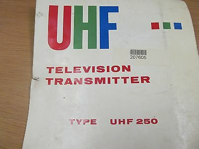 Teldex Corp  UHF 250 Television Transmitter: Operating Manual w/ Schematic 66760