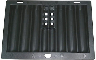 Poker Dealer Tray with 2 Card Slots - Holds 350 Chips + 2 Rows for Coins NEW *