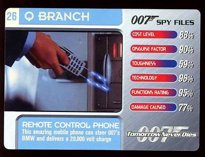 Remote Control Phone #26 Q Branch - 007 James Bond Spy Files Card