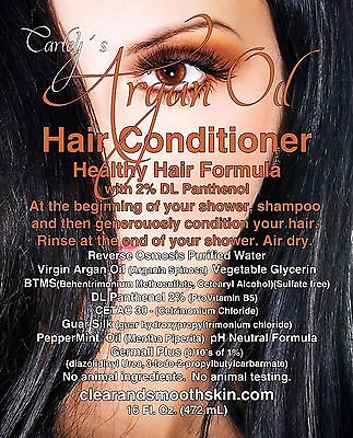 Hair Conditioner With Real Virgin Moroccan Argan Oil as primary ingredient.