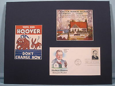 Herbert Hoover honored by First day Cover of his own stamp