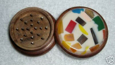 Wooden Tobacco, Herb, Or Spice Grinder - Colorful
