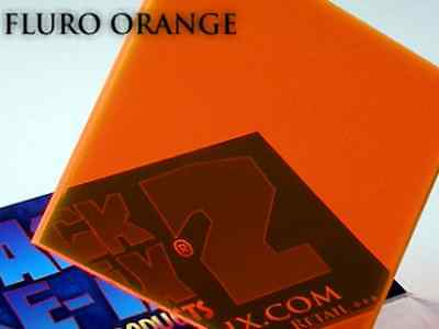 Fluorescent Orange Acrylic Perspex Plastic 210mm x 300mm x 3mm One (1) A4 Sheet