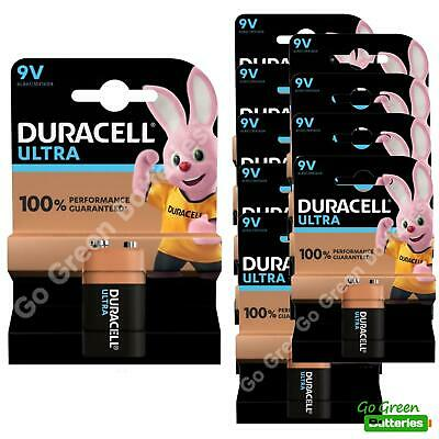 10 x Duracell 9V PP3 Ultra Power Alkaline Batteries (LR22, MN1604, 6LR61, MX1604