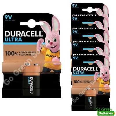 6 x Duracell 9V PP3 Ultra Power Alkaline Batteries (LR22, MN1604, 6LR61, MX1604)