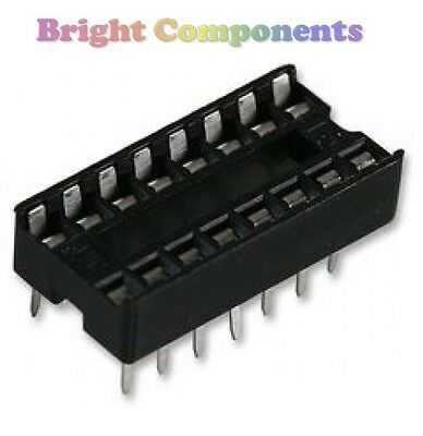 20 x Brand New 16 Pin DIL DIP IC Socket - 1st CLASS POST