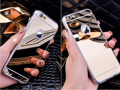 New Luxury Aluminum Ultra-thin Mirror Metal Case Cover for iPhone 7 6 6s Plus 5s