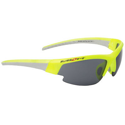 Swiss Eye Gardosa Evolution S Sunglasses Neon Yellow/light Grey 3 Lenses & Case